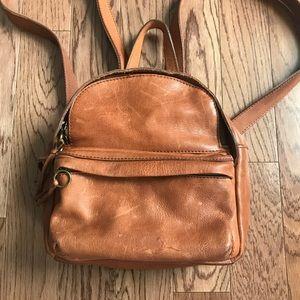 The Lorimer Mini Backpack in English Saddle